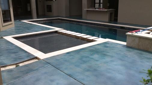 aqua blue stain