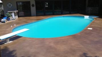 vintage umber poolside
