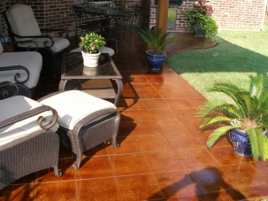 cola stained patio