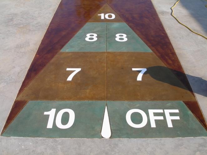 shuffleboard in custom tones