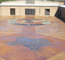 Children's courtyard stained