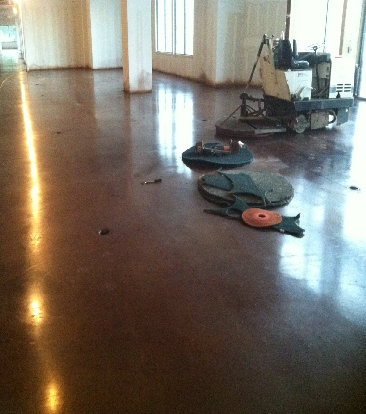 Topical polished with leather brown dye