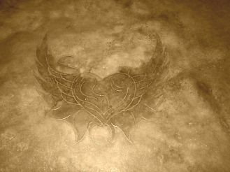 heart with wings cut