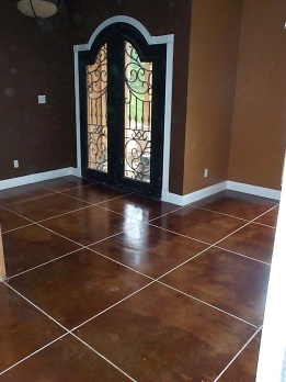 grouted lines and vintage umber