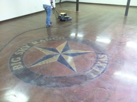 TX star with sawcut lettering