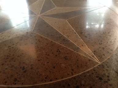 scored texas star with exposed aggregate