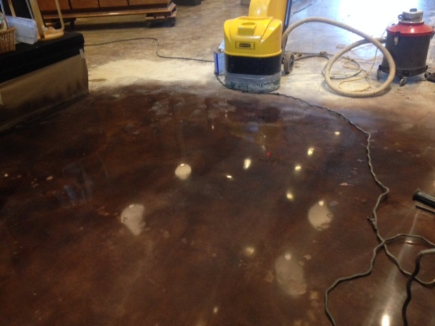 this 71 year old slab is polished with saddle brown dye