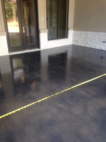 grey stained floor