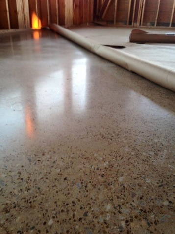 no dye, exposed aggregate