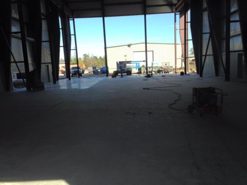 warehouse starting of polished surface