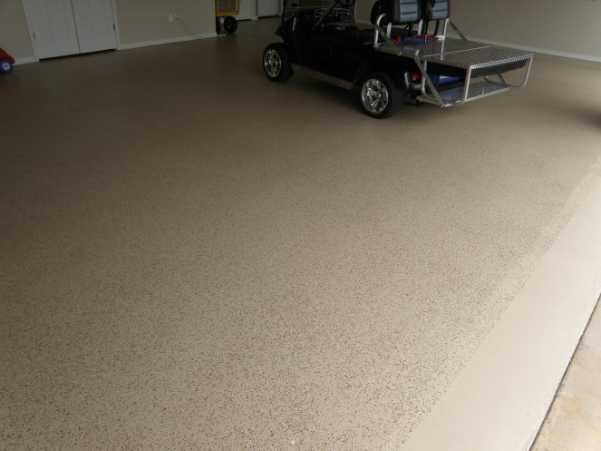 Garage epoxy flaked